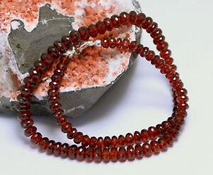 Hessonit Necklace Gemstone Faceted Garnet Orange-Red 1AQualität