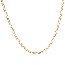 14K Yellow Gold Figaro Link 24 Inch Chain 11.4 Grams