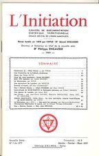 REVUE. L INITIATION Cahiers de Documentation Ésotérique. 50° ANNEE. N°1. 1977