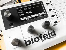 Waldorf Blofeld / Pulse ll Custom (White on Black) Dot Matrix Display !