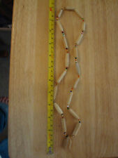 choker And beaded Bovine Carved Cow Bone Necklace