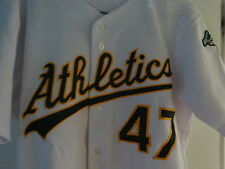 2006 RON FLORES OAKLAND ATHLETICS Game Used Worn Home Jersey W/ BILL KING PATCH