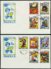 Anguilla 547-56 on FDC - Disney, Dickens Christmas Storie