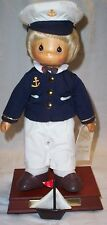 Precious Moments Carved Face Sailor Musical Navy Doll Ryan Limit Ed 886/1000