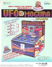 UFO MOGURA By TAITO ORIGINAL NOS NOVELTY ARCADE GAME MACHINE FLYER BROCHURE