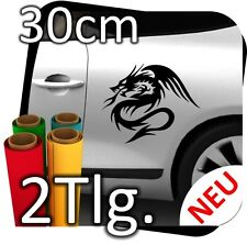 2x L Auto Autoaufkleber Drachen Dragon Drache Tribal Aufkleber Sticker 2 Tlg.