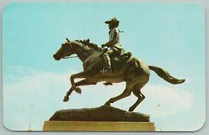 Wilmington Delaware~Statue Of Caesar Rodney Patriot's~Vintage Postcard