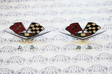 1962-1963 Chevrolet  (327 or 409) & Corvette Fender Emblems Pair