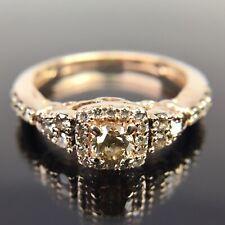 Le Vian 14k Rose Gold Chocolate Diamond Halo Engagement Ring