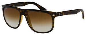 Ray-Ban Boyfriend Sunglasses RB 4147 710/51 56 Light Havana| Brown Gradient Lens