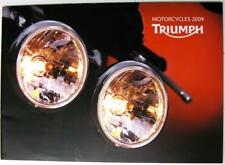 TRIUMPH Range 2009 Original Motorcycle Sales Brochure #T3865004