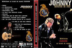 """DVD Johnny Hallyday """" REPET 98 """" avec tour de magie """"lévitation"""" très rare"""