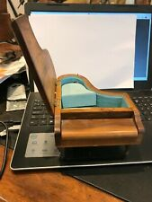 More details for really nice wooden grand piano  music box with chopin face vintage