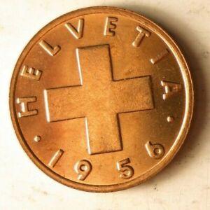 1956 SWITZERLAND RAPPEN - AU/UNC - High Quality Coin - FREE SHIP - Bin #313