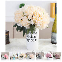 5 Köpfe Künstliche Seidenblumen Pfingstrose Kunstblumen Blumenstrauß Hochzeit