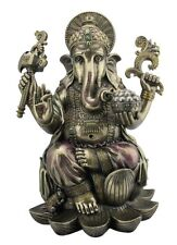 Ganesha Lotusthron Hinduismus Brahman Figur Skulptur bronziert Statue 708-6091