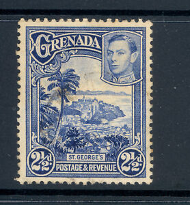 GRENADA SG 157a THE RARE PERF 21/2 d VALUE PERF 12.5X13.5 1950 USED