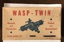 Wasp Twin Model Airplane Engine