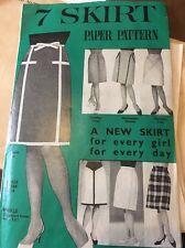 "Vintage Reveille Magazine 1960s Mini Skirt Dressmaking Sewing Pattern Hip 36"""