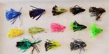 "Hula popper Skirts  -  2 1/2""  (Qty 10)   Mix Lot.   Random Mix - Fishing Tackle"