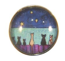 Noosa Style Chunks Snap Button Charms Chunk Charm Snaps Cats On A Fence 18mm