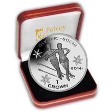 Le 2014 sochi olympic proof silver patinage coin