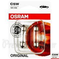 2 x OSRAM C5W 6418 Signal lamps bulbs 12V 5W SV8.5-8 Festoon Original Spare Part