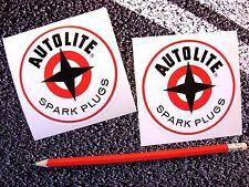 AUTOLITE Classic Spark Plugs Stickers Classic Car F1 Garage Decals 88mm Engine