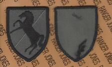 11th Armored Cavalry Regiment ACR BLACKHORSE ACU 3.50 inch patch m/e