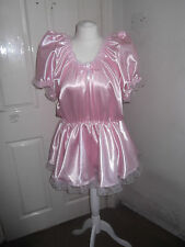 ADULT BABYS~MAIDS~SISSY~UNISEX GORGEOUS SATIN & LACE ROMPER WITH SKIRT