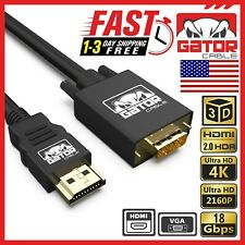 Hdmi to Vga Cable Adapter Converter for Hdtv Pc Desktop Monitor Laptop 4K Video