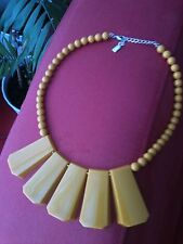 Awesome Vintage Modernist Lucite Links Necklace by Anne Klein