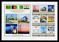 2018 Turkmenistan TAPI GAS PIPELINE Afghanistan India 9 stamps 1 List RARE