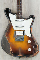 Wild Custom WildMaster HSS Electric Guitar Sunburst Ultra Relic with Hard Case