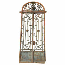 Antique Argentine Beaux Arts Wrought Iron Entry Gate and Transom 19th century