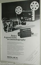 1973 Bolex Movie Camera ad, H16, 350, European ad