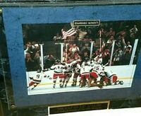 1980 USA Miracle On Ice Olympics US Hockey Team Art Wall Plaque Decor 12 x 15
