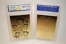 BETTY BOOP 23K Gold Card Sculptured * Officially Licensed * Graded GEM MINT 10