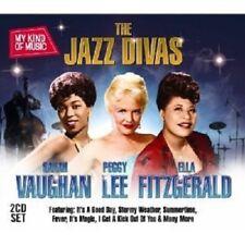 "SARAH VAUGHAN/LEE,PEGGY/FITZGERALD,ELLA VAUGHAN ""JAZZ DIVAS"" 2 CD NEW!"