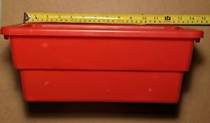 Red Replacement BATTAT Plastic Bin Toy shelf organizer Large
