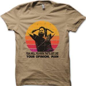 The Dude your opinion man The Big Lebowski funny Jeff Bridges t-shirt 8975