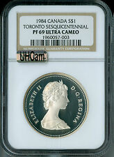 1984 CANADA TORONTO SILVER DOLLAR NGC MAC PR69 UHCam  FINEST GRADED SPOTLESS  *