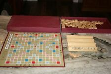Vintage 1953 SCRABBLE Board Game Selchow Righter COMPLETE Classic Word Game