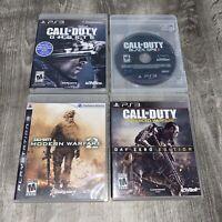 PS3 Playstation 3 Call of Duty Lot Advanced Warfare Ghosts Modern Warfare 2 BO2