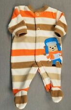 Baby Boy Clothes Child Mine Carter's Preemie Monkey Fleece Footed Outfit