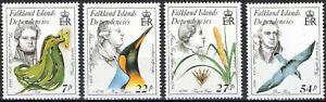 Falkland Islands Dep.1985 QEII Naturalists & endangered species set of 4  MNH