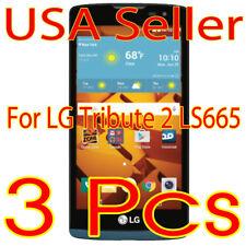 3x New  LG Tribute 2 Ls665 HD Crystal Clear Screen Film Protector Guard (USA)