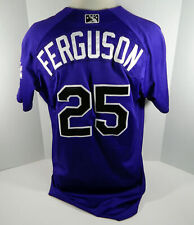 2018 Albuquerque Isotopes Collin Ferguson #25 Game Used Purple Jersey