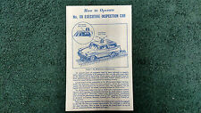 LIONEL # 68 EXECUTIVE INSPECTION  CAR INSTRUCTIONS PHOTOCOPY