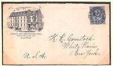 G142 1896 GB Scozia * Melrose * Hotel Pubblicità COVER & lettera transatlantico NY USA